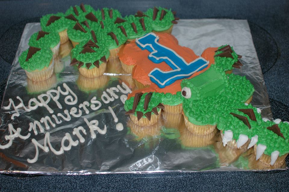 Marvelous Uf Gator Cupcakes She Bakes And Creates Funny Birthday Cards Online Elaedamsfinfo